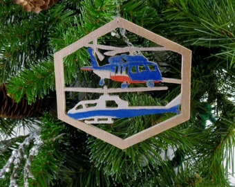 Flight for Life helicopter ornament