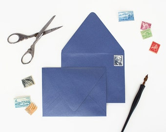 Envelopes - A2 Size - Set of 25 - Sapphire Metallic Color - Deep V Euro Flap
