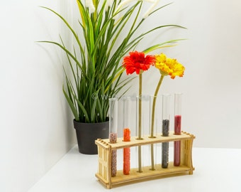 Test Tube Rack - with 6 glass tubes