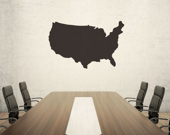 United States Chalkboard Wall Decal - #51814