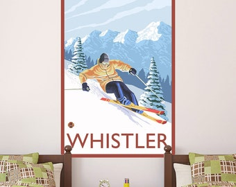Whistler Canada Alpine Skiing Wall Decal - #60817