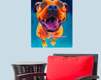 Pittie Party Pit Bull Dog Wall Decal - #59954