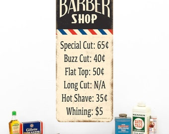 Barber Shop Haircut Prices Wall Decal - #52287