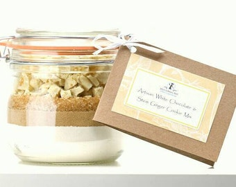 Cookie Mix - Belgian White Chocolate & Stem Ginger Cookie Mix - Jessica Bakes-Well