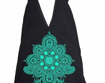 Women's REVEALS Bodysuit Sacred Geometry Henna One Piece Body Suit Geometric Mehndi
