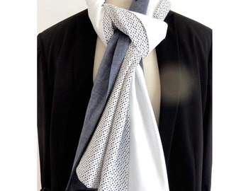 woman 's or men's scarf, one of kind, hand made .