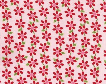 RJR Fabrics Bugsy 2629 01 Floral Pink Yardage by Rachael Wright