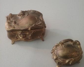 2 Victorian Jewelry Caskets