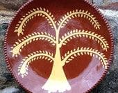 Tree of Life Plate SP45 - Pennsylvania German Folk Art