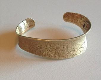 SALE: 18K Gold Over Sterling Silver Cuff Bracelet - Charles Garnier Bracelet - Gold Cuff Bracelet - Sterling Silver Bracelet - Gold Bracelet