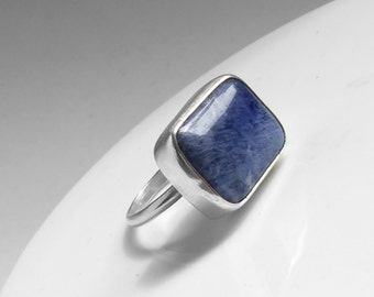 Sodalite Statement ring, one of a kind Sodalite statement ring. Only one made in a UK size P (8 US) (56 1/4 EU).