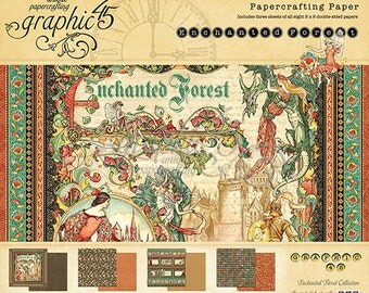 Graphic 45 Enchanted Forest Collection 8x8 Paper Pad