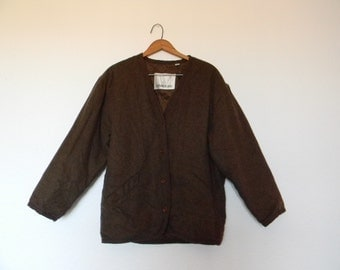 FREE usa SHIPPING vintage London Fog unisex jacket in chocolate brown, light jacket, spring jacket