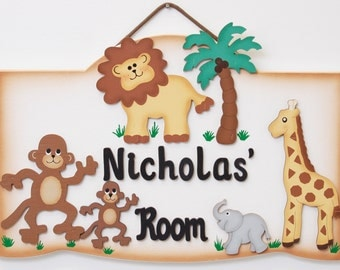 Personalized Safari Room Sign-Jungle Theme
