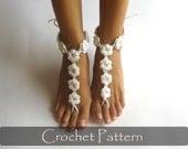 CROCHET PATTERN - Crochet Barefoot Sandals Pattern Nude Shoes Bridal Sandals Bridesmaids Nude Wedding Foot Jewelry PDF - P0027