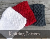 KNITTING PATTERN - Double Cable Boot Cuffs Boot Toppers Pattern Knit Boot Socks Pattern Leg Warmers Cables Braided Pattern - P0054