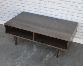 Oxelaand Coffee Table - Solid Maple with Dark Walnut Stain