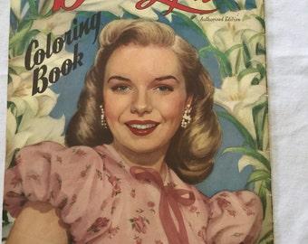 Vintage Diana Lynn Coloring Book