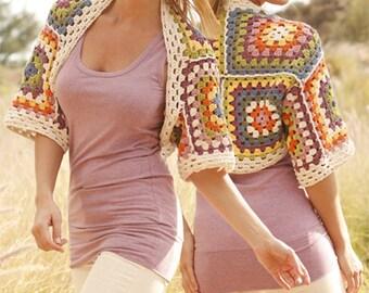 Hippie cotton sheer shrug, S/XXXL oversize, Choose SIZE, cotton, handmade