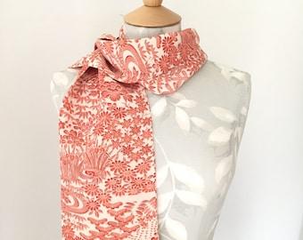 Handmade, pure silk scarf, vintage kimono silk