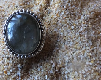 Labrodite and Sterling Silver Ring ......... Size 9.5