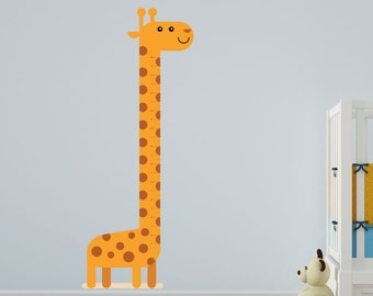 Child's Growth Chart Comic Giraffe Vinyl Wall Art