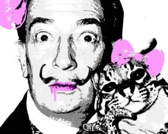 DEATH NYC - 'Purple Dali - hand signed & numbered giclee print - c2013 (Banksy, street art Int)