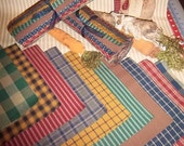 "40 - 10"" Layer Cake Squares Packs Dunroven House Homespuns; Ticking, Plaid & Check"
