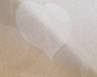 Flowers 0.5 m - metre linen - fabric - natural -