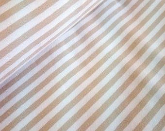 Striped jersey beige/white - 0.5 m metre
