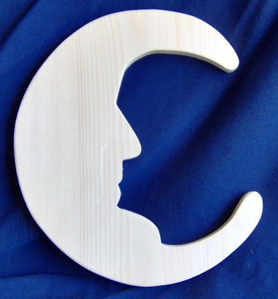"""Wooden """"Man in the Moon"""" Cutout"""
