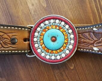 Mosaic Belt Buckle Round