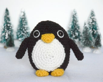 PATTERN: Penguin Crochet Pattern - amigurumi, stuffed animal, winter
