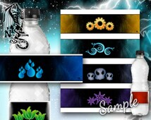 Elements Party Labels - Water Bottle Labels - Printable (Digital File Only)