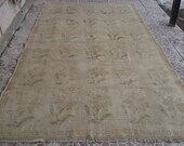 Vintage Turkish  Oushak rug 118x66