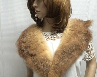 Fur collar, blonde brown, fur, free shipping