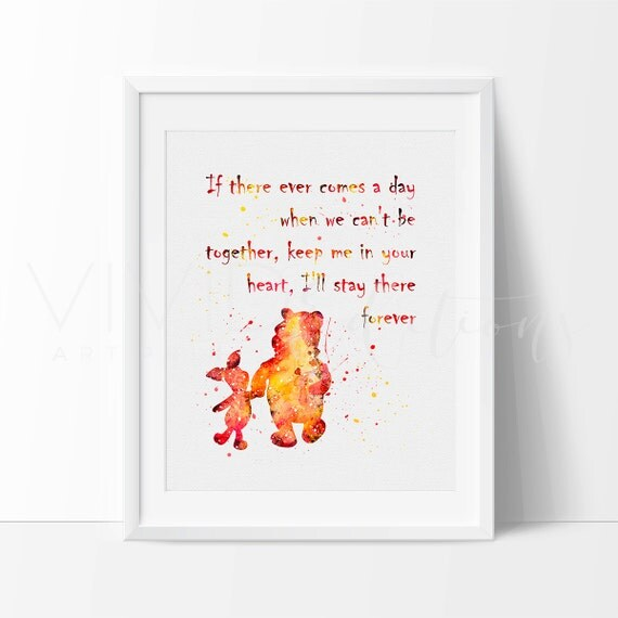 Winnie The Pooh Wall Quotes: Winnie The Pooh Quote Boy Or Girl Nursery Art Print Wall