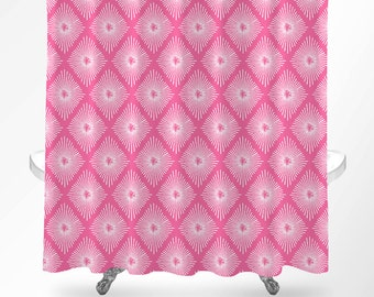pink shower curtain shower curtain art bathroom curtains modern shower curtain bathroom