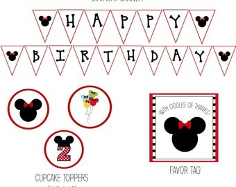 Minnie Mouse Birthday Party, Minnie Mouse Birthday Decorations, Minnie Mouse Party Decorations, Minnie Mouse Decorations - DOWNLOAD
