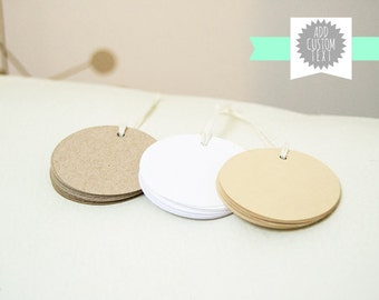Hangtags, Custom Gift Tags for Favors, Blank Tags, Price Tags for Products, Kraft Paper Tags, Brown Tags, Round Tags, Personalized Tags