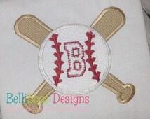Baseball Applique Design - Baseball Bat Applique Design - Softball Applique Design - Boy Applique Design - Sports Applique Design