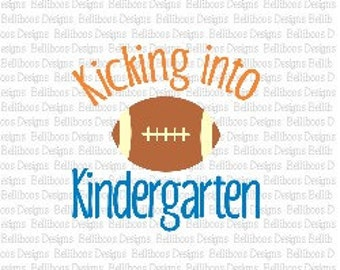 Back to School SVG - Back to School Cut Files - Kindergarten svg - Football SVG - Sports SVG - dxf files