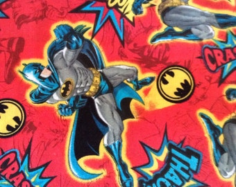 One Half Yard  of Fabric Material - Batman Red