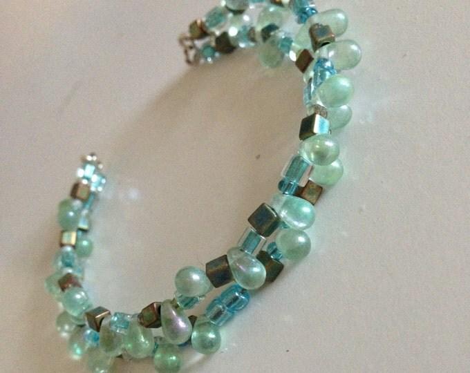 brass and glass bracelet