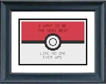 The Very Best - Pokemon - PDF Cross-Stitch Pattern