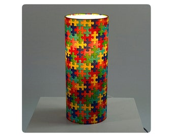 Children bedside lamp - Puzzle