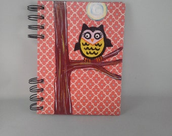 Owl in tree with Moon journal