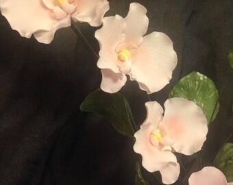 Beautiful Sugar Flowers ~ Orchids ~ Gum Paste Flowers ~ Edible cake topper ~ Sugar Orchids ~ Gum Paste Moth Orchids