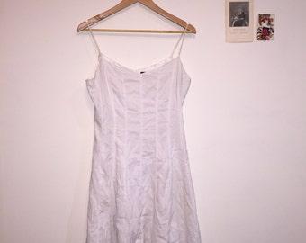 90s White Long Dress