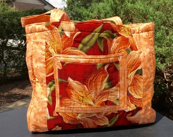 Tiger Lily Quilted Bag